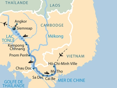 Go For Cruise Mekong Cruise 2018 Route