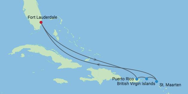 Go For Cruise route Oost Caribische Cruise Edge 2019 Celebrity Cruises Caribische Eilanden