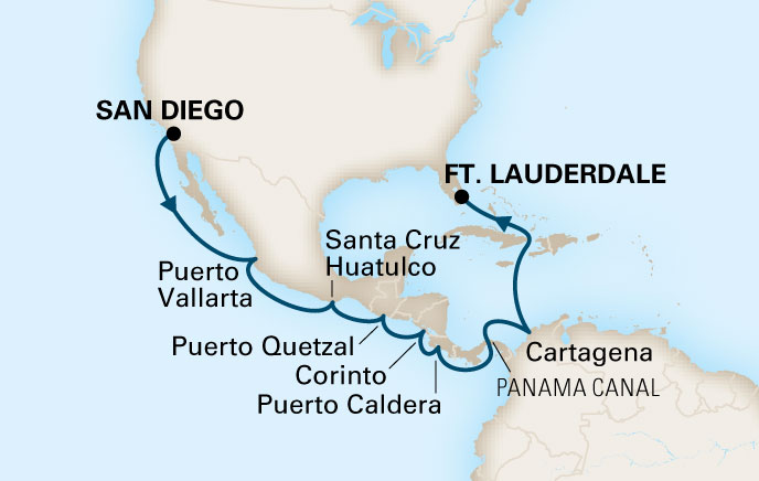 Go For Cruise route Panamakanaal Cruise 2017 Midden Amerika