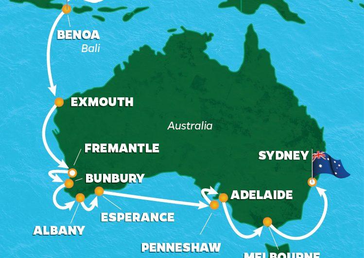 Go For Cruise route Australie Cruise 2018 Azamara down under