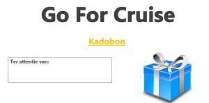 Kadobon Cadeubon Go For Cruise Prettige Feestdagen Vrolijk Kerstmis Gelukkig Nieuwjaar
