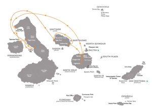 Rondreis Ecuador en Galapagos Expeditie Cruise 2021 - Coral - Routa b