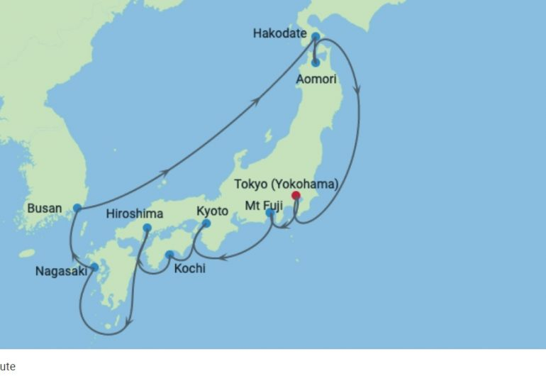 Japan Cruise 2021 - Celebrity Solstice - Route